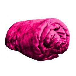Deka z Mikroflanelu - 150 x 200 cm - tmavě růžová
