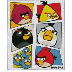 Dětská fleecová deka 120x150 cm - Angry Birds