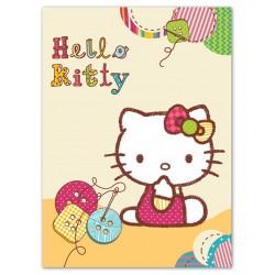 Dětská španělská deka 80x110 cm - Hello Kitty I