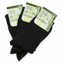 Dámské bambusové ponožky - černé - 3 páry - Pesail