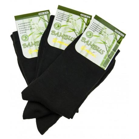 Dámské bambusové ponožky - černé - 3 páry