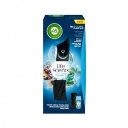 Air Wick Komplet 250ml - Freshmatic osvěžovač vzduchu, černý + náplň - Tyrkysová laguna