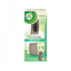 Air Wick Komplet 250ml - Freshmatic osvěžovač vzduchu, hnědý + náplň - Bílé květy frézie