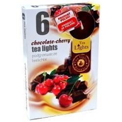 Čajové svíčky 6 kusů – Čokoláda a třešně