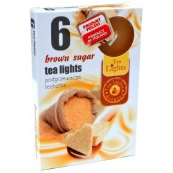 Čajové svíčky - Hnědý cukr - 6 ks - Admit