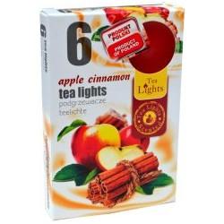 Čajové svíčky - Jablko a skořice - 6 ks - Admit