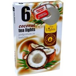 Čajové svíčky - Kokos - 6 ks - Admit