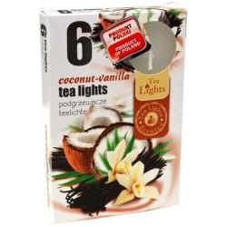 Čajové svíčky - Kokos a vanilka - 6 ks - Admit