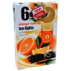 Čajové svíčky - Pomeranč a vanilka - 6 ks - Admit