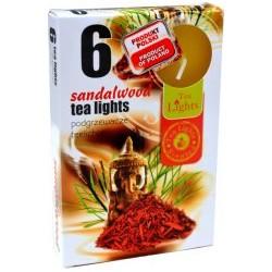 Čajové svíčky 6 kusů – Santalové dřevo