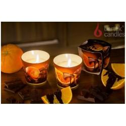 Vonná svíčka ve skle - Čokoláda a pomeranč, 100g