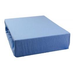 Jersey prostěradlo - Světle modré