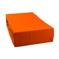 Jersey prostěradlo - Světle oranžové
