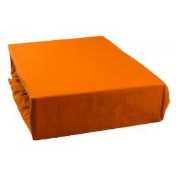 Jersey prostěradlo - Tmavě oranžové