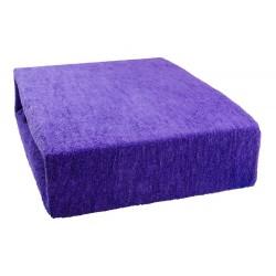 Froté prostěradlo - Tmavě fialové