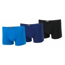 Bambusové boxerky - jednobarevné - 3 ks