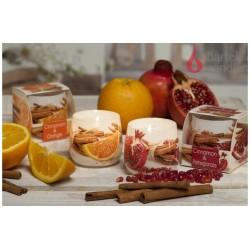 Vonná svíčka ve skle - Skořice & granátové jablko, 100g