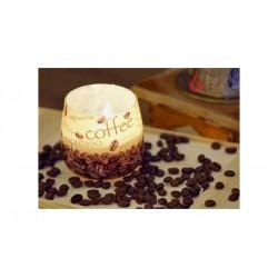 Vonná svíčka ve skle - Káva a pistácie, 100g