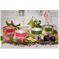 Vonná svíčka ve skle - Černý čaj, švestka a třešňový květ, 115g