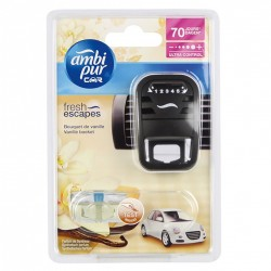 Osvěžovač vzduchu do auta + náplň - CAR3 - Moonlight vanilla - 7 ml - Ambi Pur