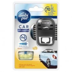 Osvěžovač vzduchu do auta + náplň - CAR3 - Anti tabák - Citrus - 7 ml - Ambi Pur