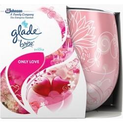 Vonná svíčka ve skle Glade - Only Love, 120g