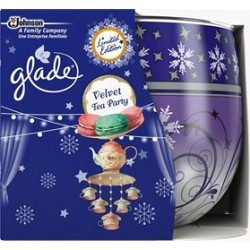 Vonná svíčka ve skle Glade - Velvet Tea Party, 120g