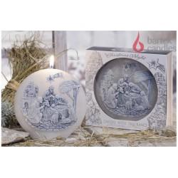 Dekorativní vonná svíčka - Betlém světlý disk, 480g