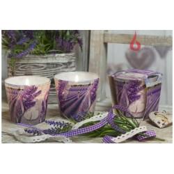 Vonná svíčka ve skle - Polibek levandule, levandulový olej, 115g