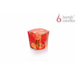 Vonná svíčka ve skle - Vánoční zahrada – pomeranč, vanilka a planá růže, 115g