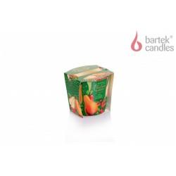 Vonná svíčka ve skle - Vánoční zahrada – hruška, skořice a brusinka, 115g