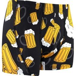 Boxerky s motivem - pivo - černé