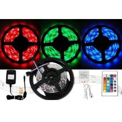 Barevný LED pás 5050 - 5 metrů - kompletní set