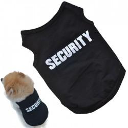 Bavlněné tričko pro pejska s nápisem SECURITY