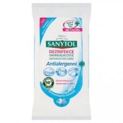 Čistící antialergenní dezinfekční ubrousky - 36 ks - Sanytol