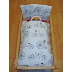 Peřinky do postýlky pro panenky - Bicycle