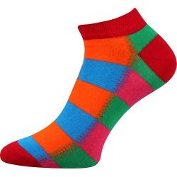 Unisex kotníkové ponožky - Barevné