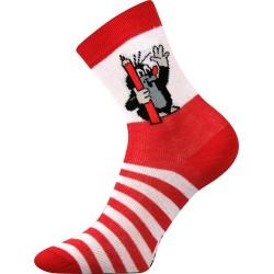 Dětské ponožky - Krteček - červené - Boma