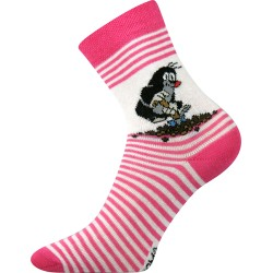 Dětské ponožky Krteček - Magenta