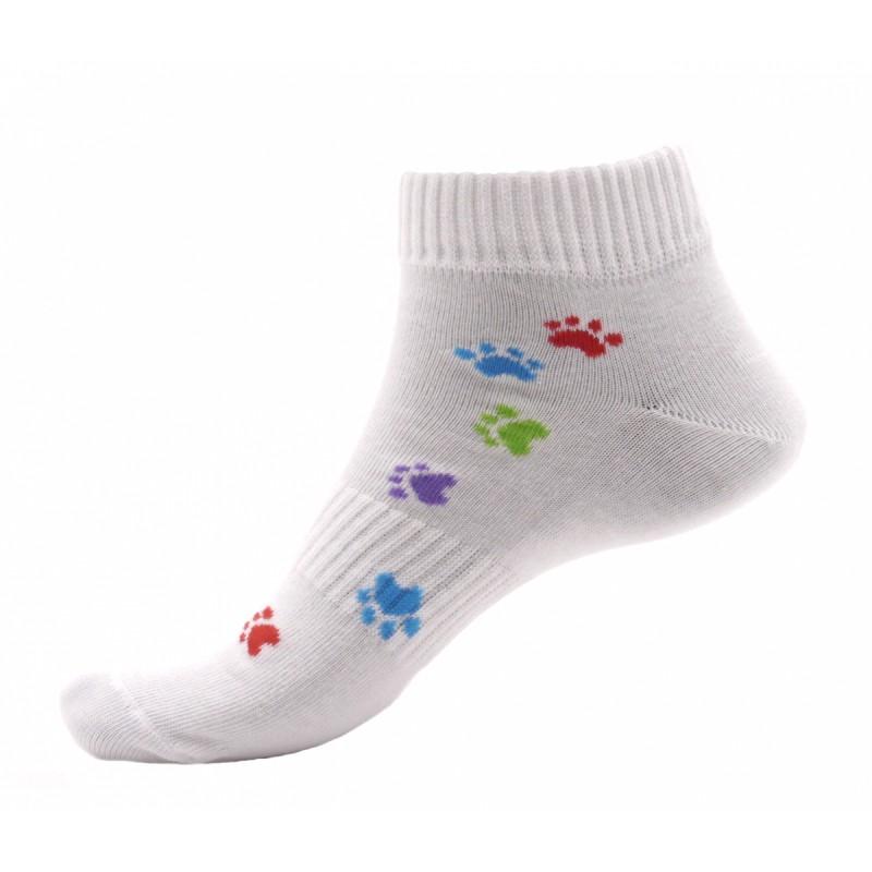 Dámské kotníkové ponožky - Barevné tlapky - NAAU CZ f41745646a