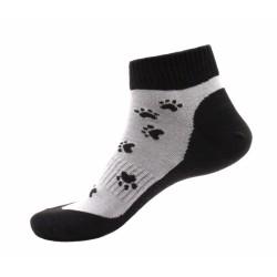 Unisex kotníkové ponožky - Černé tlapky - Moda Čapek