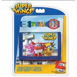 Dárková sada - peněženka a hodinky Super Wings