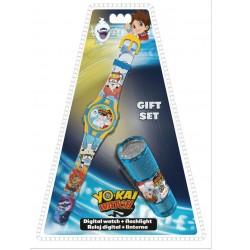 Dárková sada - YO-KAI hodinky a LED baterka