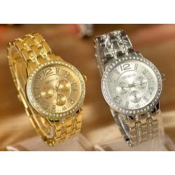 Dámské hodinky Geneva - s krystaly Elements - stříbrné