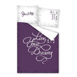 Bavlněné povlečení na jednolůžko - Live Your Dreams