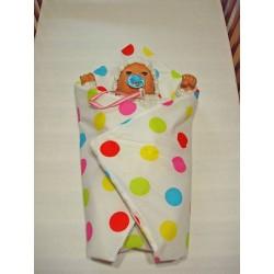 Rychlozavinovačka pro panenky - Puntíky, barevné