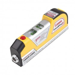 Praktická laserová vodováha se svinovacím metrem
