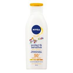 Dětské mléko na opalování Protect & Sensitive OF 50+ - 200 ml - Nivea
