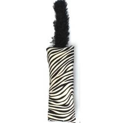 Interaktivní hračka s ocasem pro kočičku - vzor zebra