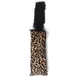 Interaktivní hračka s ocasem pro kočičku - vzor leopard